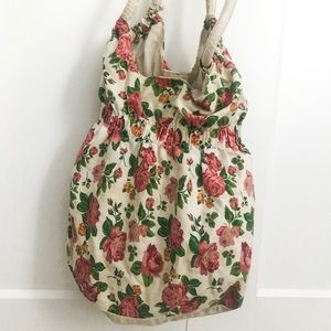 Pink and White Floral Bag